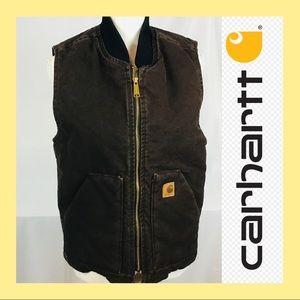Carhartt brown vest small